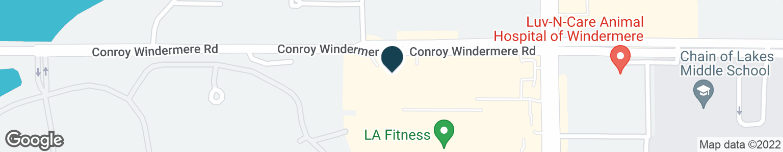 Google Map of9200 CONROY WINDERMERE RD
