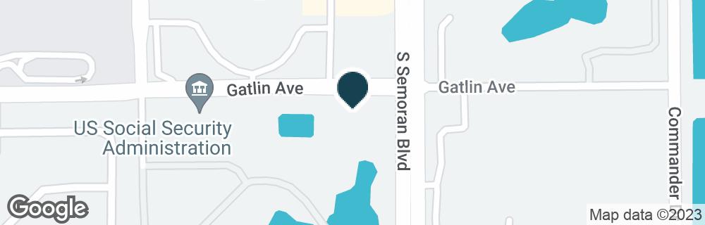 Google Map of4774 S SEMORAN BLVD