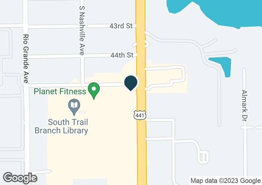 Google Map of4502 S ORANGE BLOSSOM TRL