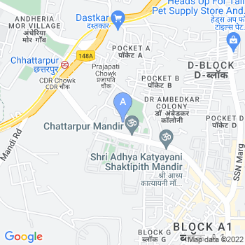 Location of Chattarpur Mandir