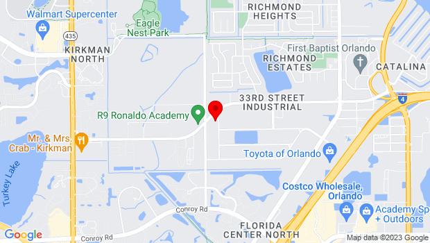 Google Map of 3306 Maggie Blvd., Suite B, Orlando, FL 32811