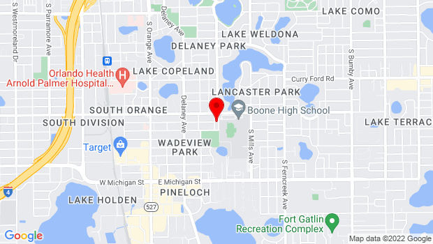 Google Map of 2000 S Summerlin Ave, Orlando, FL 32801