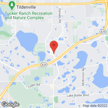 Map of Hair Cuttery at 3317 Daniels Rd, Oakland, FL 34787