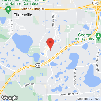 Map of Bed Bath & Beyond at 3215 Daniels Road, Winter Garden, FL 34787
