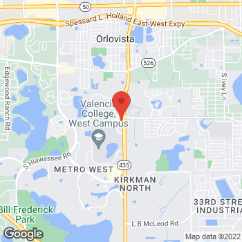 Map of Arby's at 1174 S. Kirkman Rd., Orlando, FL 32811
