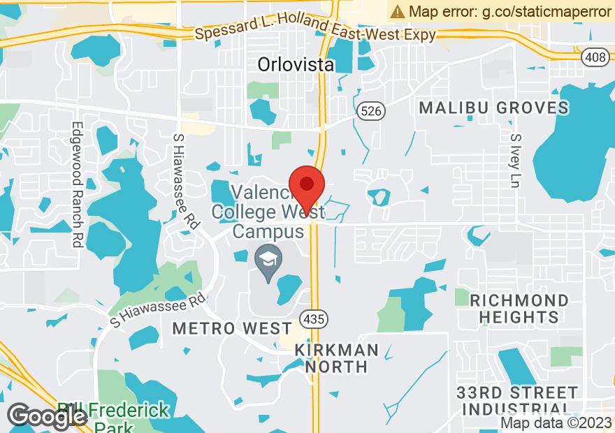 Google Map of 920 S KIRKMAN RD