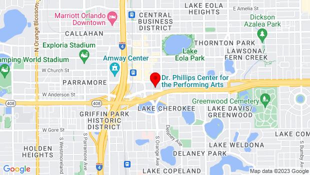 Google Map of 445 S. Magnolia Ave, Orlando, FL 32801