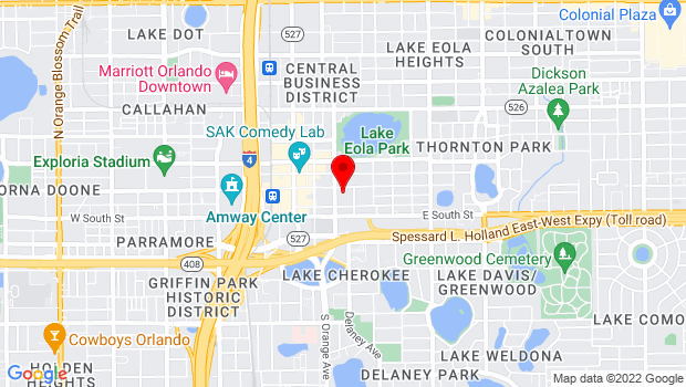 Google Map of 201 South Rosalind Street, Orlando, FL 32801