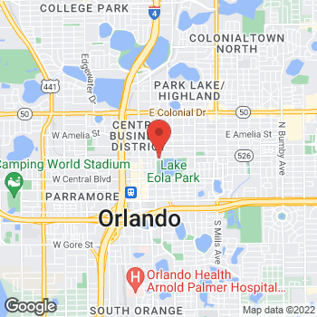 Map of Fifth Third Mortgage - Pamela Warticki at 200 East Robinson Street, Orlando, FL 32801