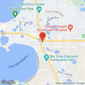 Map of Staples at 1600 South Grand Highway, Clermont, FL 34711