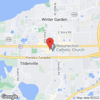 Map of Hair Cuttery at 13750 W Colonial Dr, Winter Garden, FL 34787