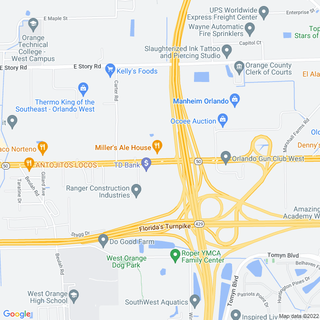 Map of Wekiva (SR 429) Parkway