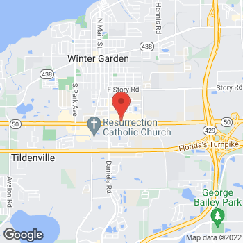 Map of Taco Bell at 13309 W Colonial Dr, Winter Garden, FL 34787