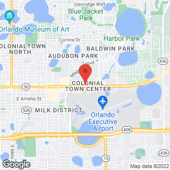 Map of Noodles & Company at 3683 E. Colonial Drive, Orlando, FL 32803