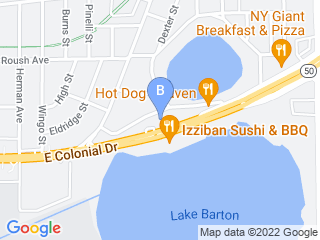 Map of Miss Emilys Bed & Biscuit Dog Boarding options in Orlando | Boarding