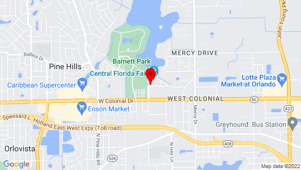 Google Map of 4603 West Colonial Drive, Orlando, FL 32808
