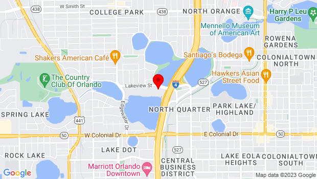 Google Map of 250 SW Ivanhoe Blvd. Orlando, FL 32804, Orlando, FL 32804