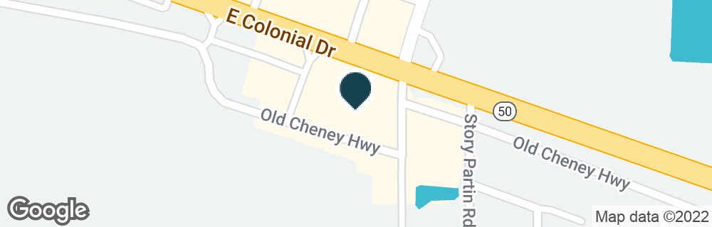 Google Map of16900 E COLONIAL DR