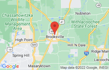 Map of Brooksville