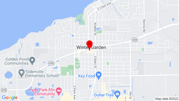 Google Map of 160 W Plant St, Winter Garden, FL 34787
