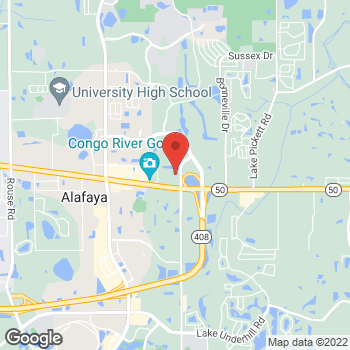 Map of Hair Cuttery - Closed at 12231 East Colonial Drive Suite 130, Orlando, FL 32828