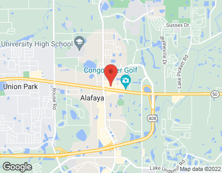 Map of 11915 E Colonial Dr in Orlando