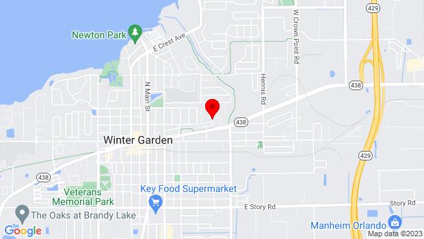 Google Map of 805 East Plant Street, Winter Garden, FL 34787