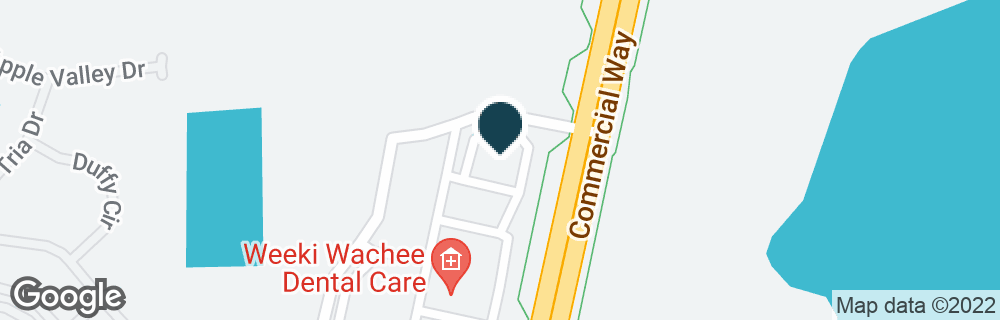 Google Map of9819 COMMERCIAL WAY