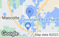 Map of Groveland, FL