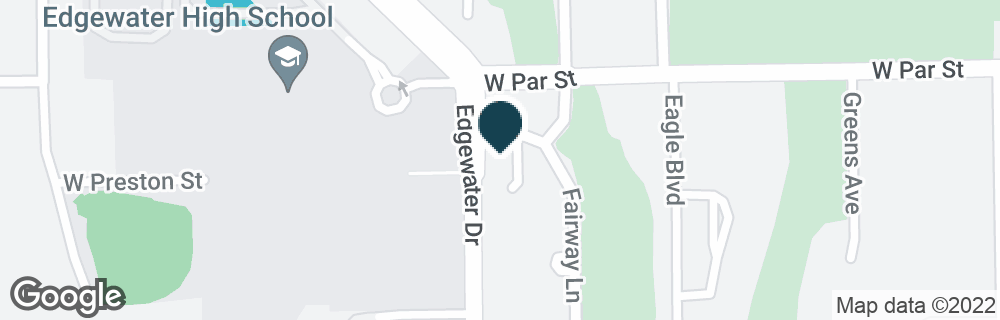 Google Map of3301 EDGEWATER DR
