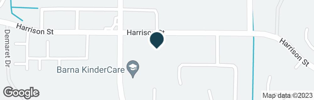 Google Map of2605 BARNA AVE