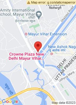 Google Map of Crowne Plaza New Delhi Mayur Vihar Noida