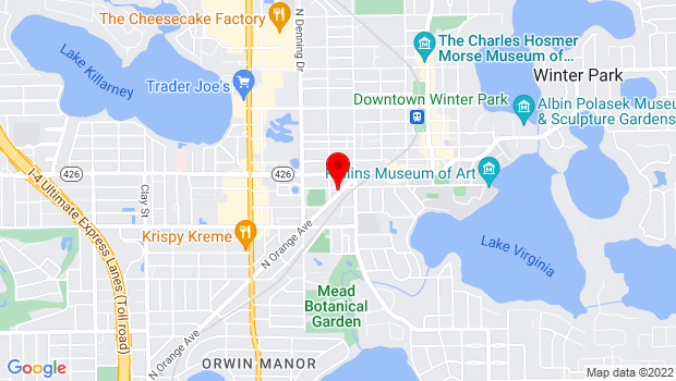 Google Map of 711-C Orange Avenue, Winter Park, FL 32789