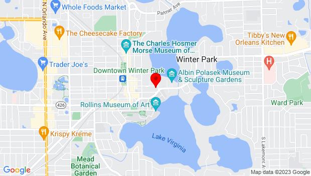 Google Map of 460 E. New England Ave, Winter Park, FL 32789