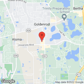 Map of Hair Cuttery - Closed at 4016 N Goldenrod Road Suite 104, Winter Park, FL 32792