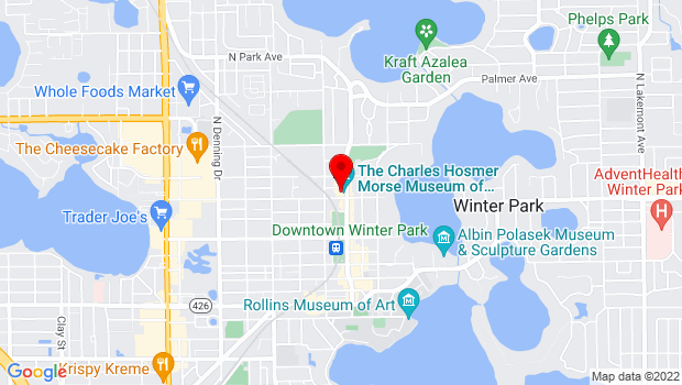 Google Map of 445 N. Park Ave., Winter Park, FL 32789