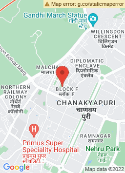 Google Map of The Leela Palace New Delhi