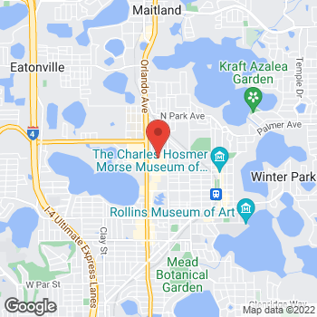 Map of Guitar Center Lessons at 520 North Orlando Ave, Winter Park, FL 32789