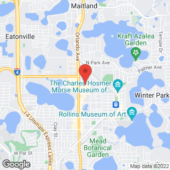 Map of Guitar Center at 520 North Orlando Ave, Winter Park, FL 32789