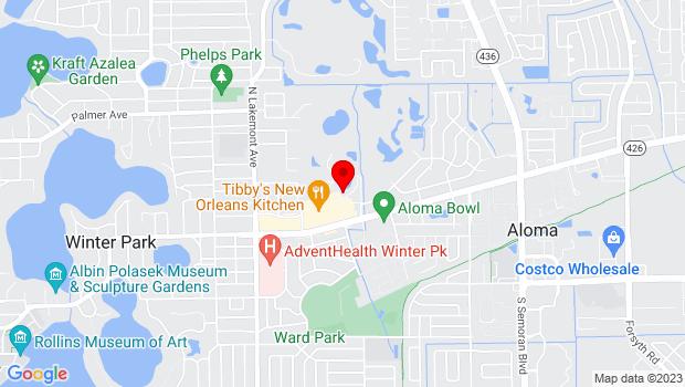 Google Map of 600 St. Andrews Boulevard, Winter Park, FL 32792