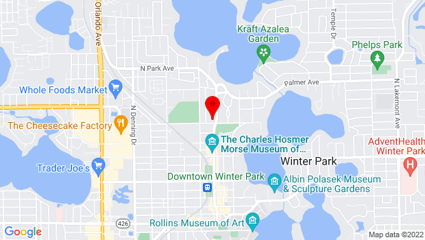 Google Map of 841 N Park Ave, Winter Park, FL 32790