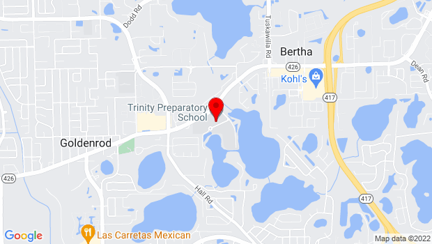 Google Map of 5700 Trinity Prep Lane, Winter Park, FL 32792
