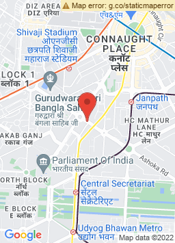 Google Map of Shangri La's Eros Hotel, New Delhi