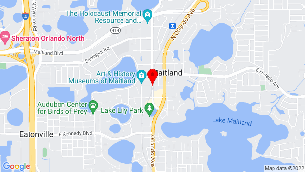 Google Map of 210 West Packwood Ave, Maitland, FL 32751