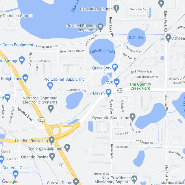 Map of Apopka (SR 414) Expressway