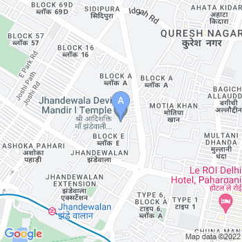 Location of Jhandewalan Temple