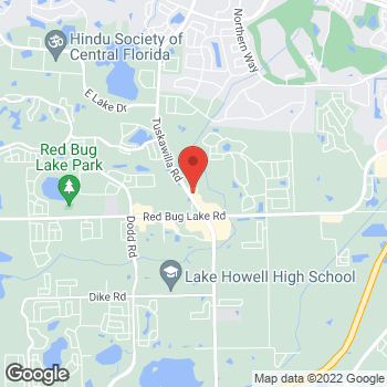 Map of Arby's at 1305 Tuskawilla Rd, Winter Springs, FL 32708