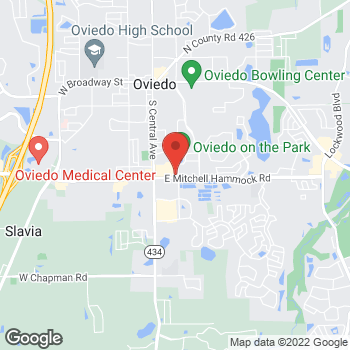 Map of Panera Bread at 205 E Mitchell Hammock Rd, Oviedo, FL 32765