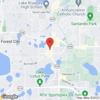 Map of Hair Cuttery at 200 S State Road 434 Ste. 1068, Altamonte Springs, FL 32714