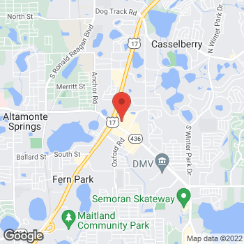 Map of Bed Bath & Beyond at 5803 South U.S. Highway 17/92, Casselberry, FL 32707